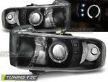 Predné svetlá Dodge Ram 94-01 Angel Eyes černá