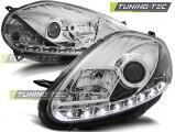 Predné svetlá Fiat Grande Punto 08-09 chrom