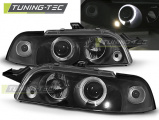 Predné svetlá Fiat Punto 1 11,93-09,99 Angel Eyes černá