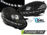 Predné svetlá Fiat Punto Evo 10/09-12 černá led DRL