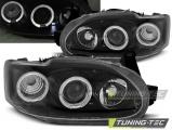 Predné svetlá Ford Escort MK7 02/95-00 Angel Eyes černá