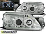Predné svetlá Ford Fiesta MK5 09/99-04/02 Angel Eyes chrome