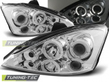 Predné svetlá Ford Focus 10/98-10/01 Angel Eyes chrome