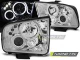 Predné svetlá Ford Mustang 04-09 Angel Eyes chrom
