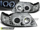 Predné svetlá Ford Mustang 98-04 Angel Eyes chrom