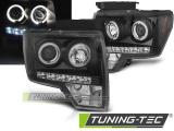 Predné svetlá Ford F150 MK12 08-14 Angel Eyes černá
