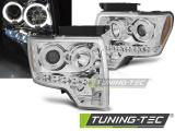 Predné svetlá Ford F150 MK12 08-14 Angel Eyes chrom