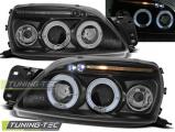 Predné svetlá Ford Fiesta MK5 09/99-04/02 Angel Eyes černá
