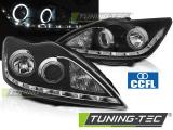 Predné svetlá Ford Focus II 02/08-10 Angel Eyes CCFL černá