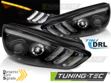 Predné svetlá Ford Focus MK3 15-18 černá DRL led SEQ
