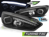 Predné svetlá Ford Focus MK3 15-18 černá DRL led