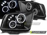 Predné svetlá Ford Mustang 04-09 Angel Eyes černá