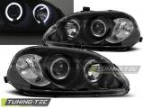 Predné svetlá Honda Civic 03/99-02/01 Angel Eyes černá