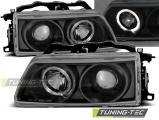 Predné svetlá Honda CRX 90-02,92 Angel Eyes černá