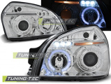 Predné svetlá Hyundai Tucson 07/04-10 Angel Eyes chrome
