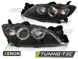 Predné svetlá Mazda 3 03-09 černá xenon