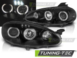 Predné svetlá Mazda MX5 01-05 Angel Eyes černá
