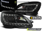Predné svetlá Mercedes W204 07-10 černá xenon