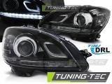 Predné svetlá Mercedes W204 07-10 DRL černá