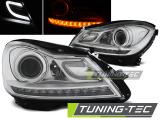 Predné svetlá Mercedes W204 11-14 chrom