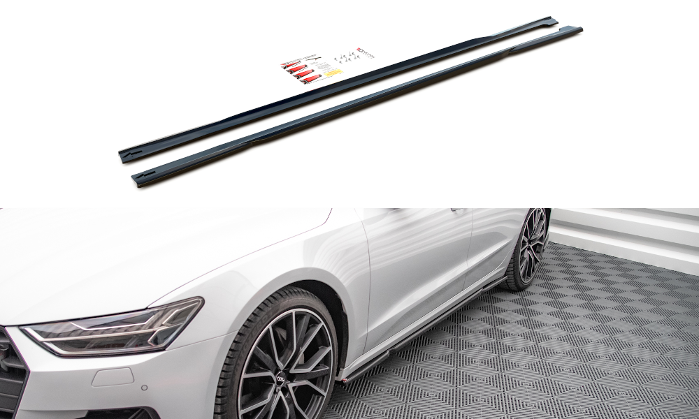 Nástavce prahů Audi A7 C8 2018 - Maxtondesign