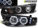 Predné svetlá Mitsubishi Galant 8 (EA0) 96-06 Angel Eyes černá CCFL