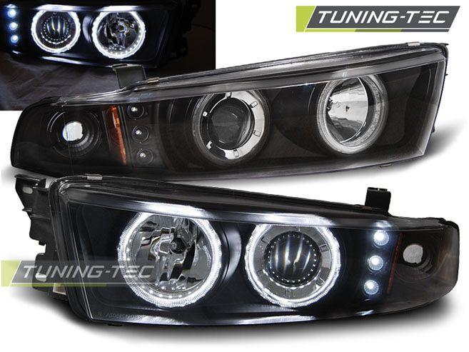 Predné svetlá Mitsubishi Galant 8 (EA0) 96-06 Angel Eyes černá CCFL TUNINGTEC