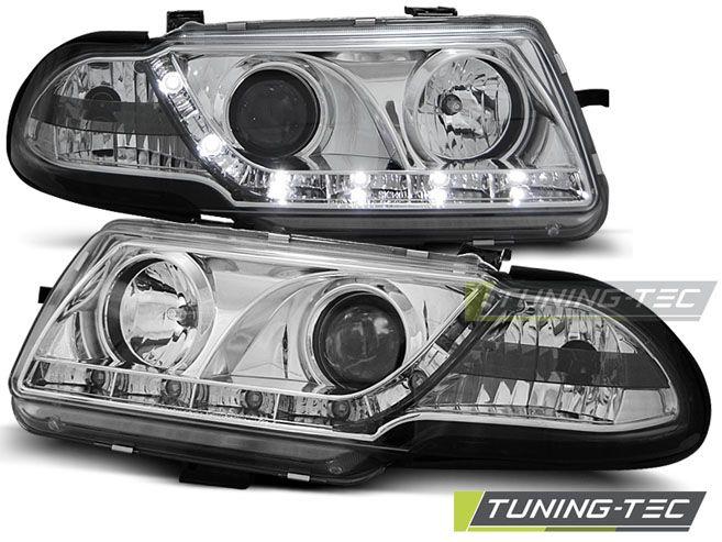 Predné svetlá Opel Astra F 09/94-08/97 chrom TUNINGTEC