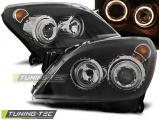 Predné svetlá Opel Astra H 03/04-09 Angel Eyes černá