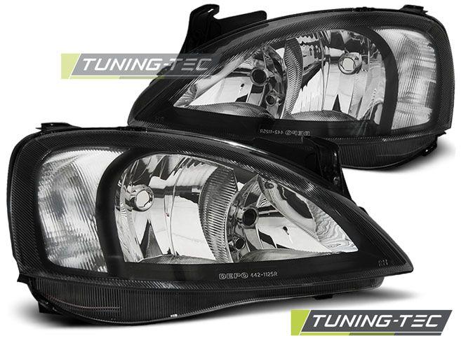 Predné svetlá Opel Corsa C 11/00 - 09/06 černá TUNINGTEC