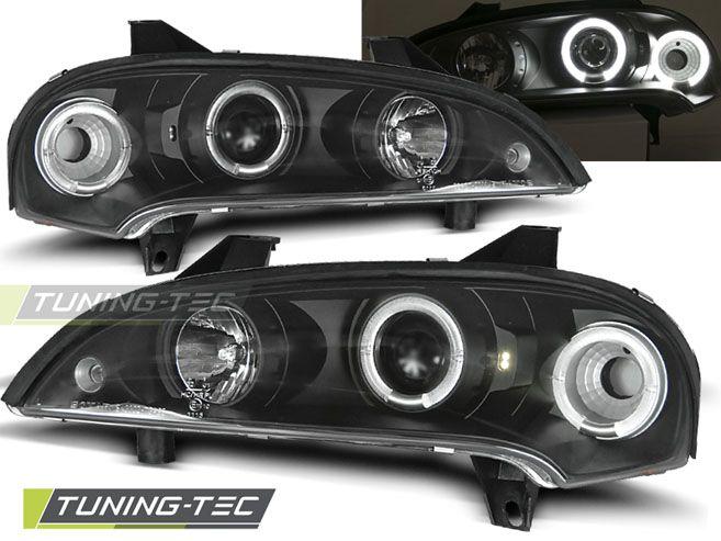 Predné svetlá Opel Tigra 09/94-12/00 Angel Eyes černá TUNINGTEC