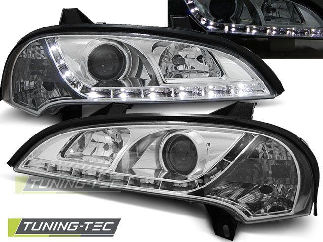 Predné svetlá Opel Tigra 09/94-12/00 chrom TUNINGTEC