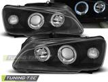 Predné svetlá Peugeot 106 08/96-03 Angel Eyes černá