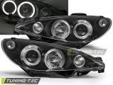 Predné svetlá Peugeot 206 02- Angel Eyes černá