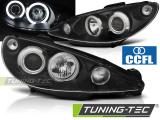 Predné svetlá Peugeot 206 02- Angel Eyes černá CCFL