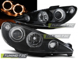 Predné svetlá Peugeot 206 02-Angel Eyes černá