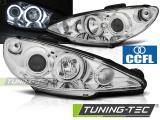 Predné svetlá Peugeot 206 02- Angel Eyes chrom CCFL