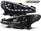 Predné svetlá Peugeot 207 05/06-06/12 černá W/MOTOR