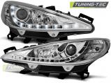 Predné svetlá Peugeot 207 05/06-06/12 chrom W/MOTOR