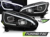 Predné svetlá Peugeot 208 4/12-06/15 černá