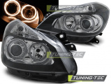 Predné svetlá Renault Clio 3 05-09 černá Angel Eyes