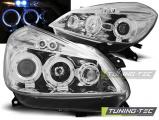 Predné svetlá Renault Clio 3 05-09 chrom Angel Eyes