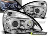Predné svetlá Renault Clio II 06/01-09/05 Angel Eyes chrom