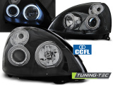 Predné svetlá Renault Clio II 06/01-09/05 Angel Eyes CCFL černá