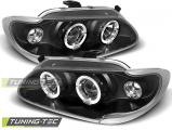 Predné svetlá Renault Megane/Scenic 96-99 Angel Eyes černá