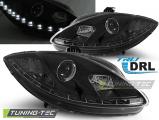 Predné svetlá Seat Leon Altea 09-12 TRUE DRL černá