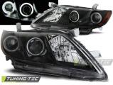 Predné svetlá Toyota Camry 6 XV40 06-09 Angel Eyes černá