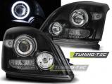 Predné svetlá Toyota Land Cruiser 120 03-09 Angel Eyes černá CCFL