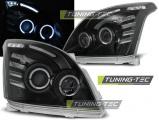 Predné svetlá Toyota Land Cruiser 120 03-09 Angel Eyes černá