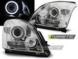 Predné svetlá Toyota Land Cruiser 120 03-09 Angel Eyes chrom CCFL